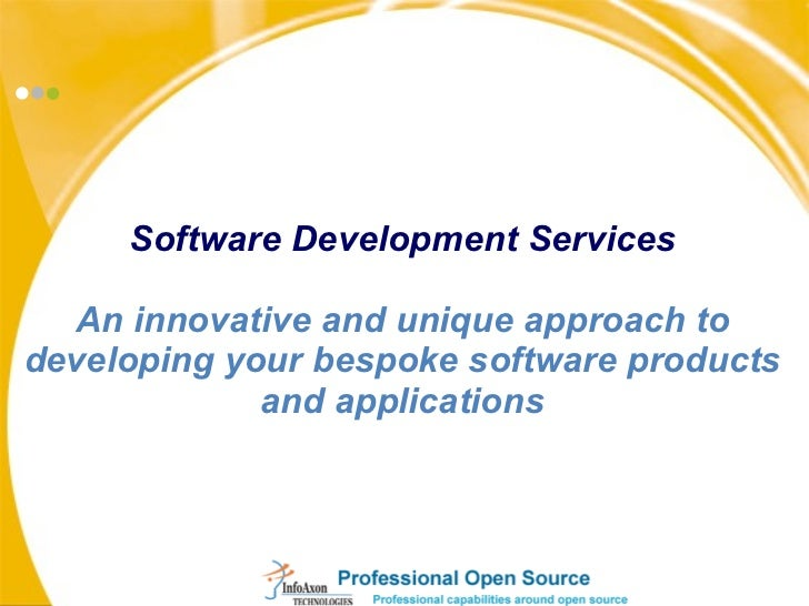 Software Development Services An innovative and unique approach to developing your bespoke software products and applicati...