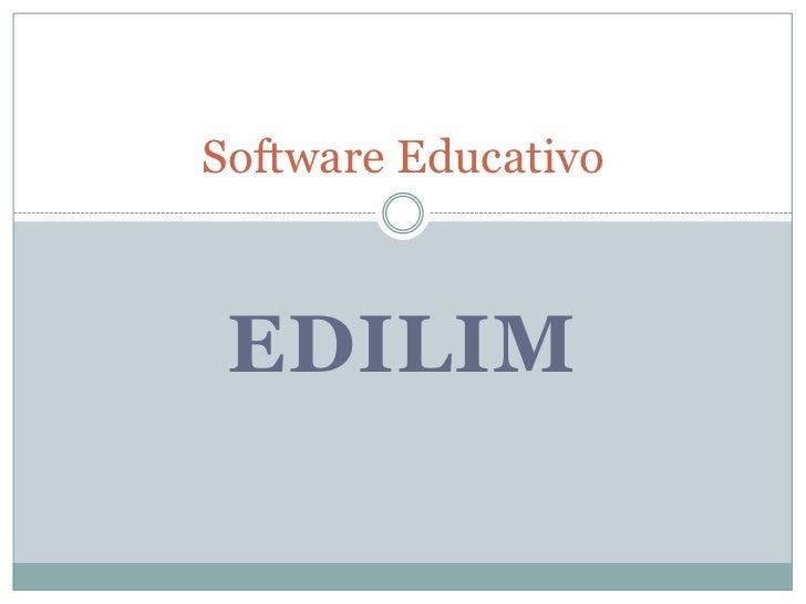 EdiLim<br />Software Educativo<br />