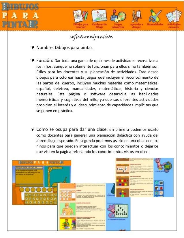 Software Educativo Samantha Dibujos Para Colorear