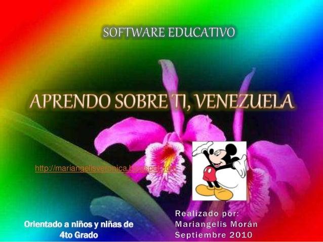 Orientado a niños y niñas de 4to Grado http://mariangelisveronica.blogspot.com