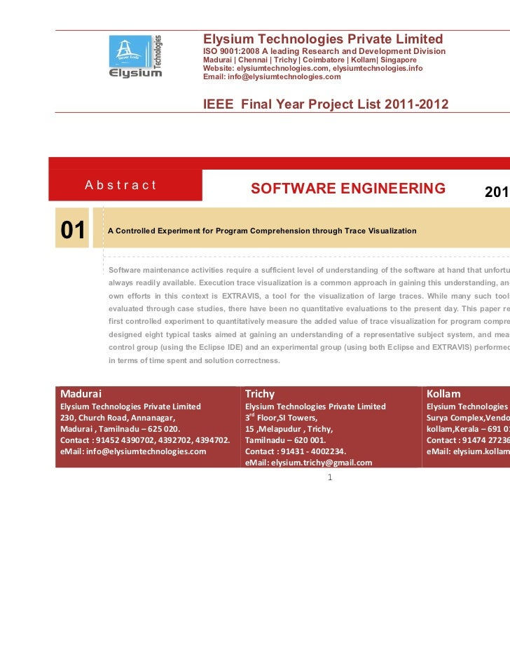 Elysium Technologies Private Limited                                      ISO 9001:2008 A leading Research and Development...