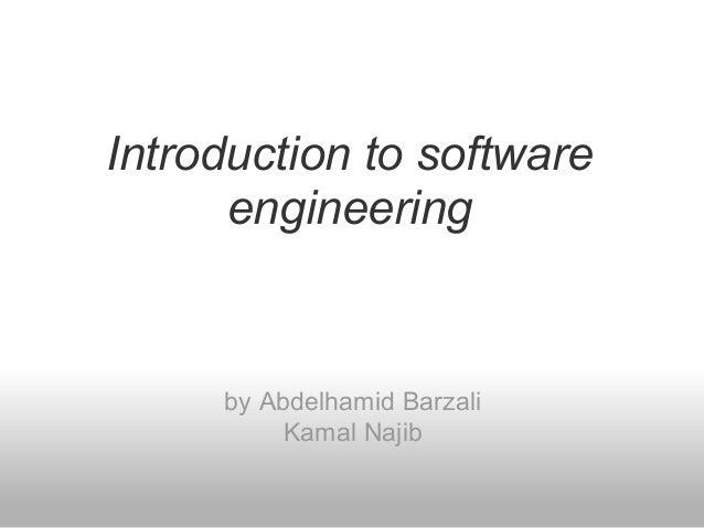 Introduction to software engineering by Abdelhamid Barzali Kamal Najib