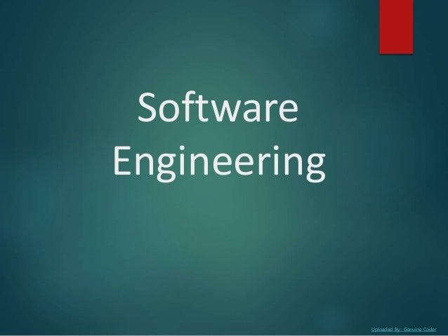 Uploaded By : Genuine Coder Software Engineering