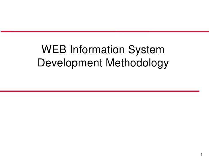 WEB Information System Development Methodology                               1