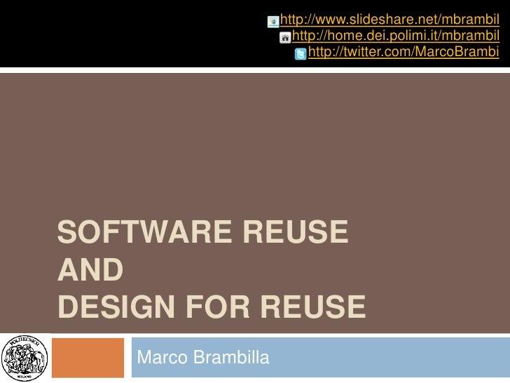 http://www.slideshare.net/mbrambil                         http://home.dei.polimi.it/mbrambil                            h...
