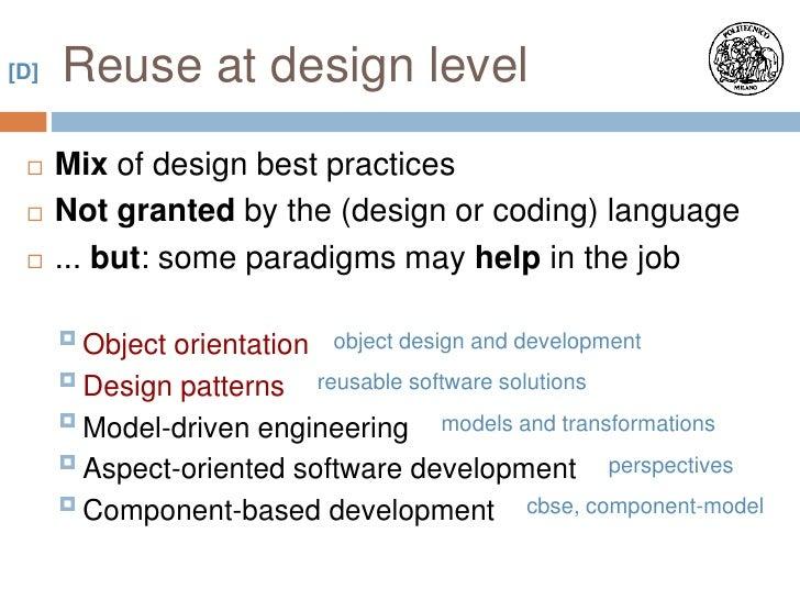 Software Engineering Design For Reuse