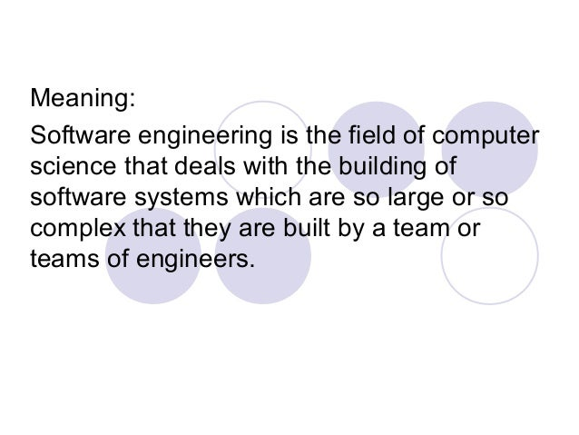 What is the meaning of software?