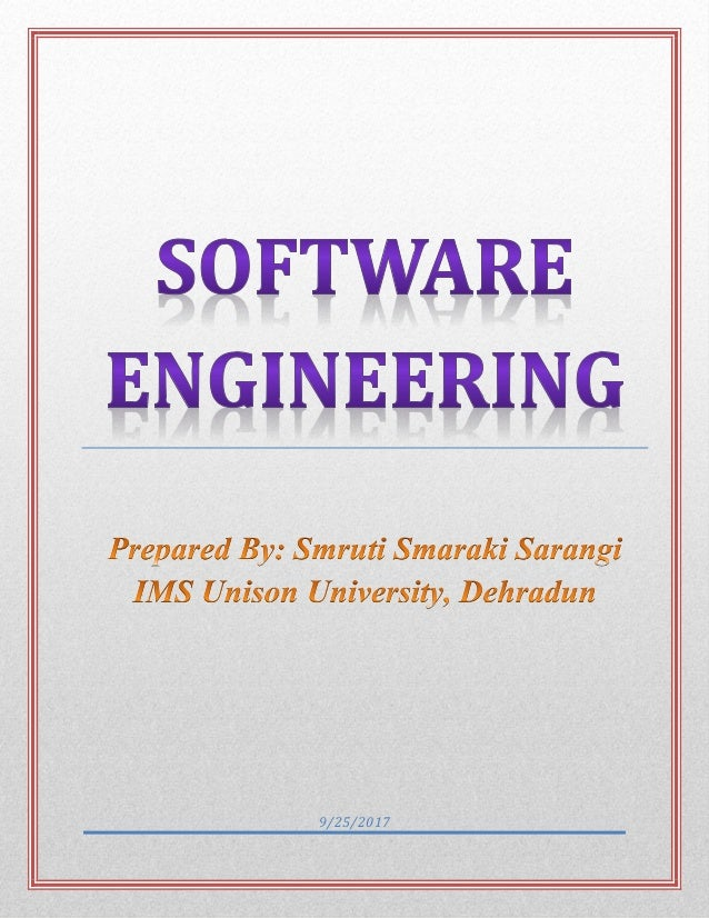 Software engineering study materials