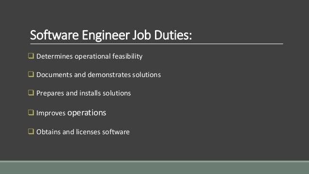 Software engineer job responsibilities