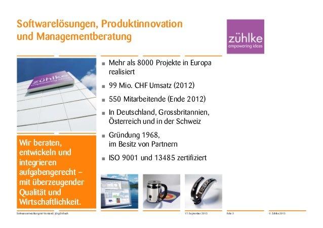 Pionierbasis Konferenz 17.11.2013: Softwareentwicklung mit Verstand Slide 3