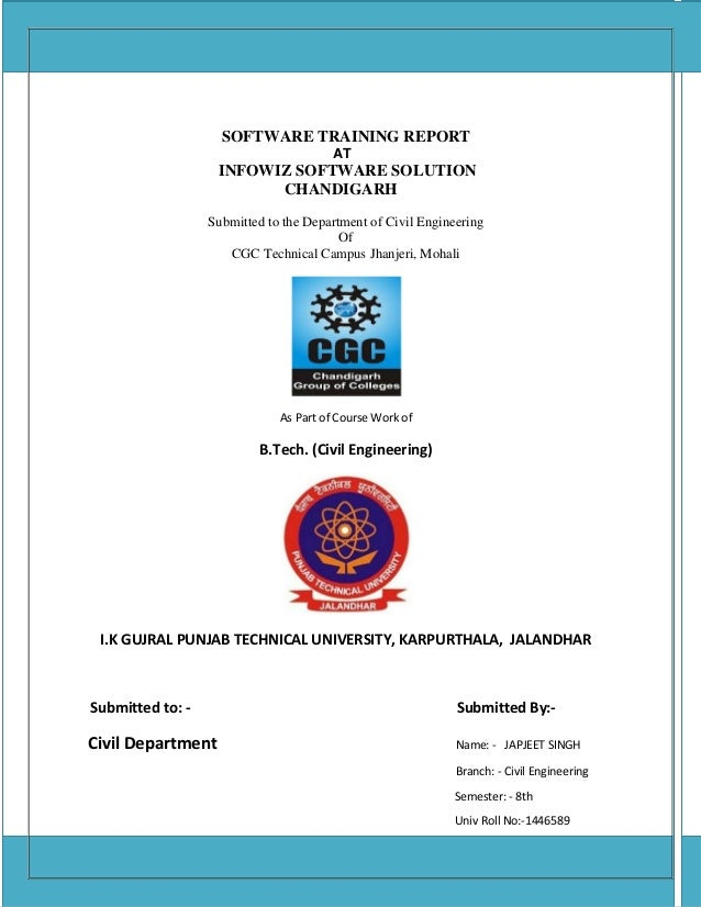 Software training report on AutoCAD and Staad Pro  Civil