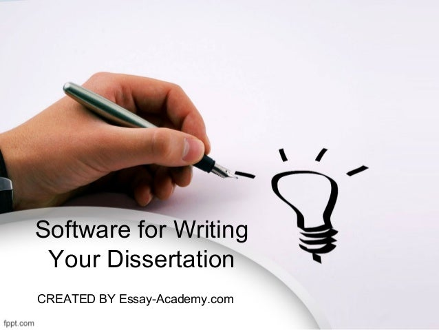 Dissertation writing software