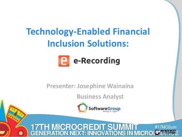 Software Group - Technology-Enabled Financial Inclusion ...