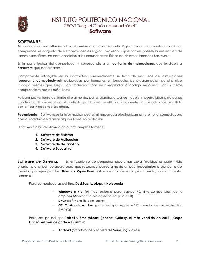 Introduccion Software elbragao69 Prof. Carlos Montiel R. Slide 2