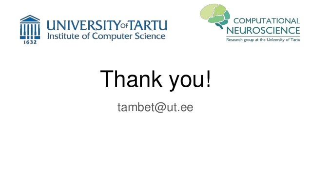 Thank you! tambet@ut.ee