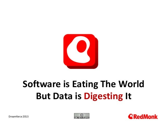 Software is Eating The World But Data is Digesting It 10.20.2005 Dreamforce 2013