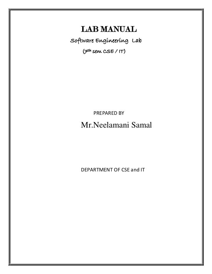 Lab manual For software engineering Lab
