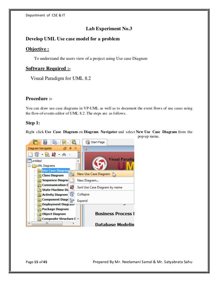 software engineering lab manual rh slideshare net software engineering lab manual for cse r13 jntuk software engineering lab manual pdf
