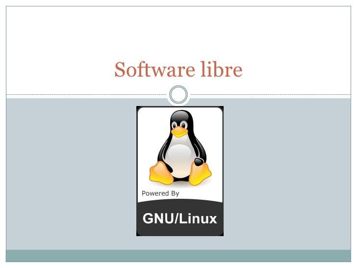 Software libre<br />