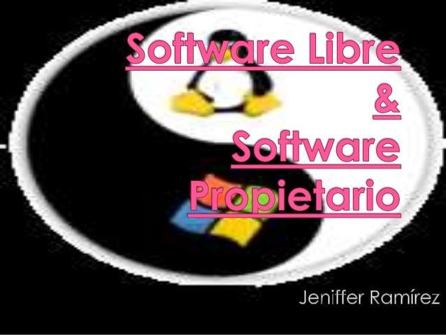  El software libre es la denominación del software que respeta la libertad de los usuarios sobre su producto adquirido y,...