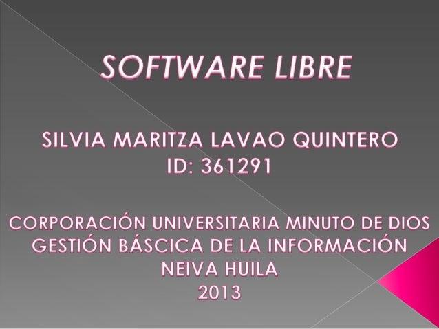 """El software libre (en inglés """"free software"""", aunque esta denominación a veces se confunde con """"gratis"""" por la ambigüedad ..."""