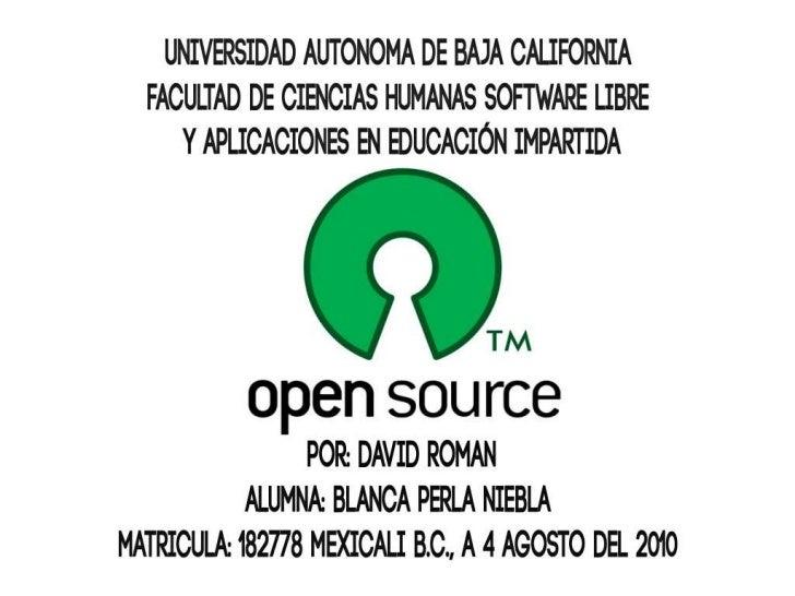 Software libre 2011 blanca niebla