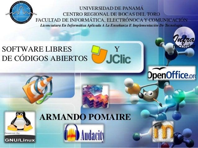 UNIVERSIDAD DE PANAMÁ LOGO            CENTRO REGIONAL DE BOCAS DEL TORO        FACULTAD DE INFORMÁTICA, ELECTRÓNOCA Y COMU...