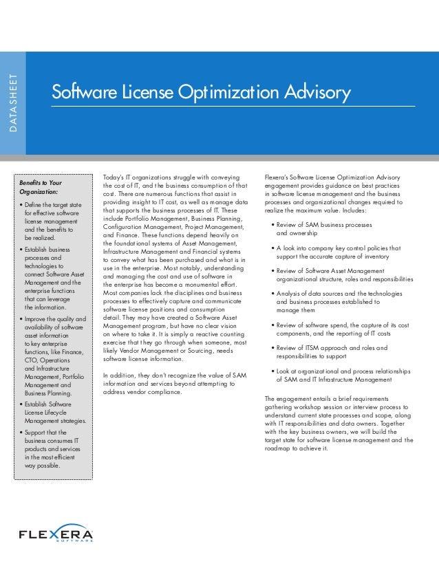 Software License Optimization Advisory