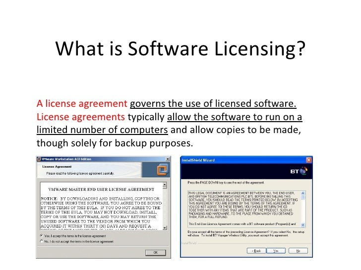 Introduction To Software Licensing
