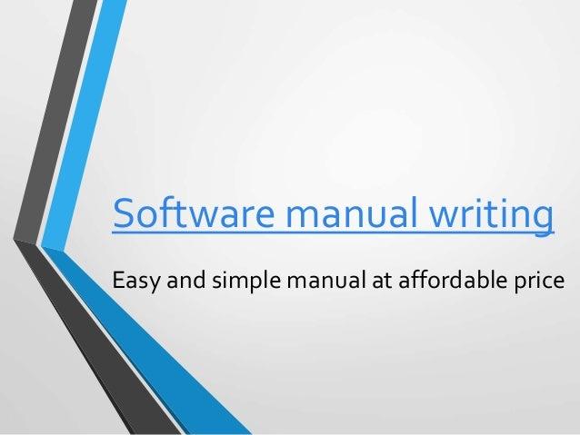 software manual writing com rh slideshare net policy manual writing software manual writing software