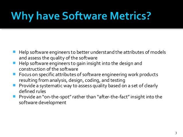 Software metrics Slide 3