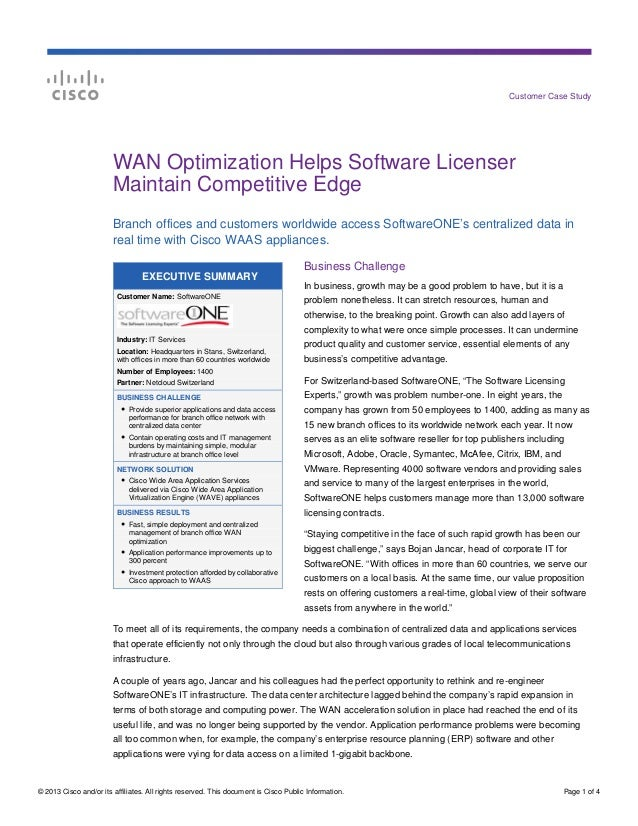 © 2013 Cisco and/or its affiliates. All rights reserved. This document is Cisco Public Information. Page 1 of 4 Customer C...