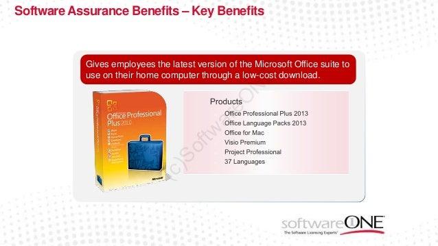 software assurance benefits key benefits home use - Microsoft Visio Home Use Program