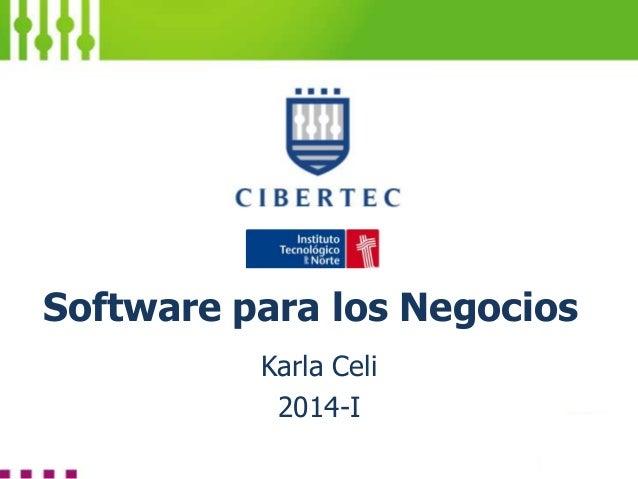 Software para los Negocios Karla Celi 2014-I