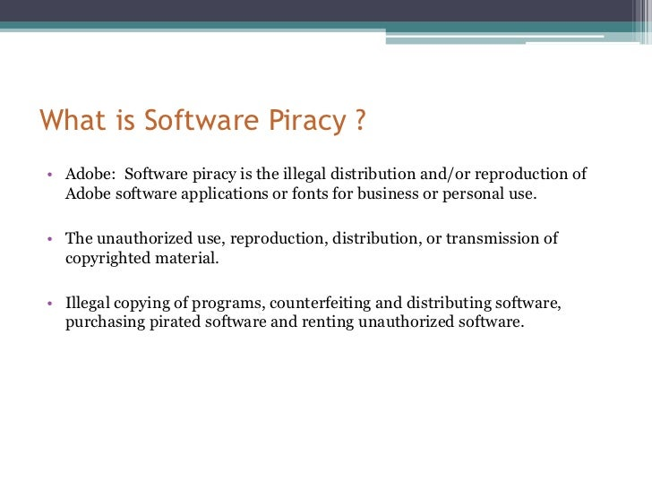 the definition of software piracy and how software piracy happens The definition of software piracy is the unauthorized copying or distribution of copyrighted software while this definition may sound simple, its impact and affect are.