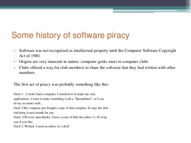 A history of software piracy