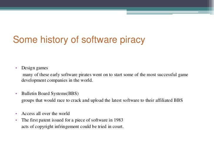 what is the definition of software piracy