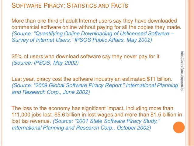 software piracy on the internet essay Essay: the effects of internet piracy on the music industry for better or worse, peer-to-peer file sharing has completely revolutionized how people discover and.
