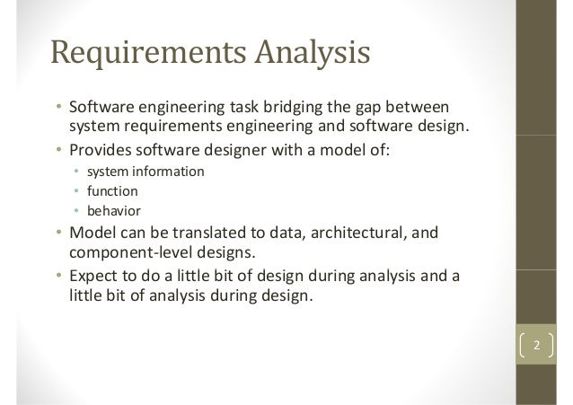 Software Project Management Requirements Analysis - Technical requirements project management