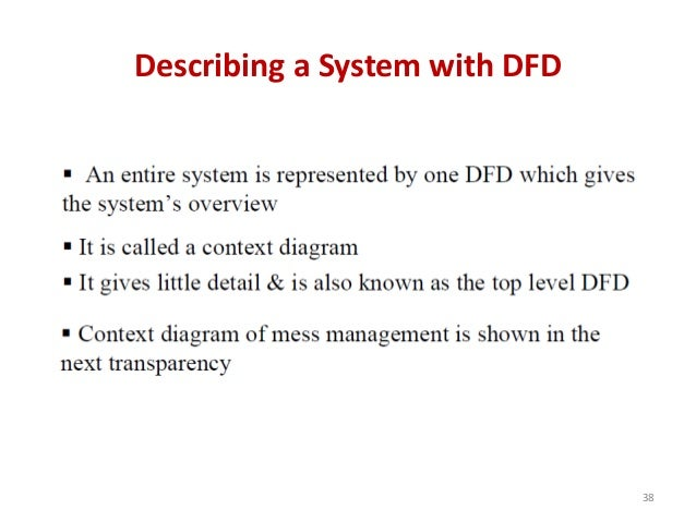 Describing a System with DFD 38