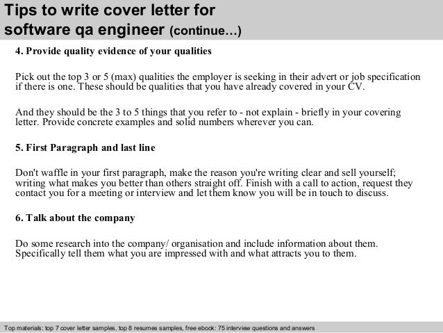 4 tips to write cover letter for software qa engineer - Sample Resume Of Software Quality Engineer