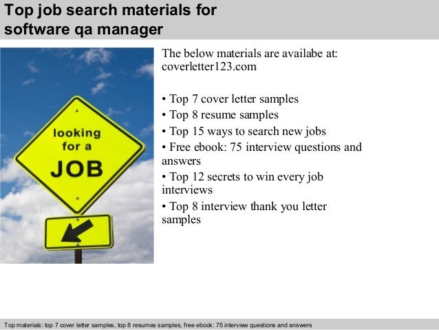 5 Top Job Search Materials For Software Qa Manager