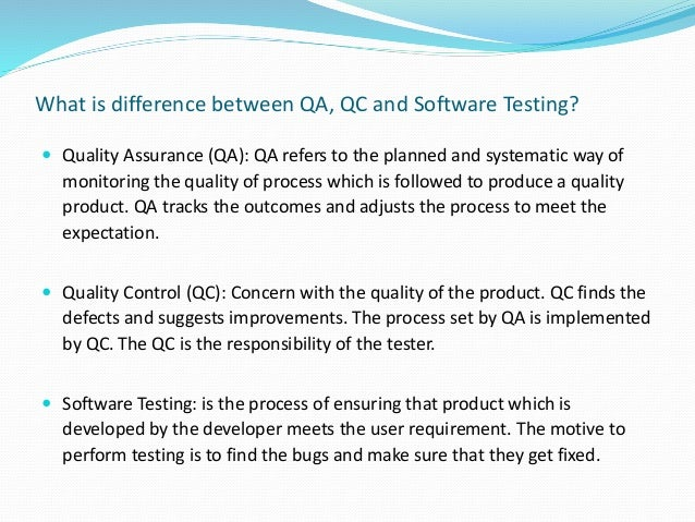 Software Quality Assurance training by QuontraSolutions
