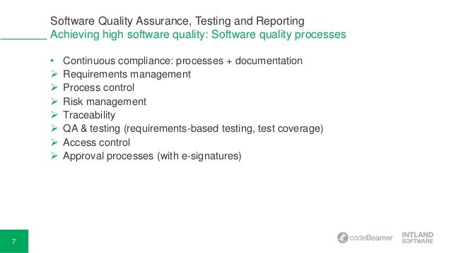 Software Quality Assurance, Testing and Reporting
