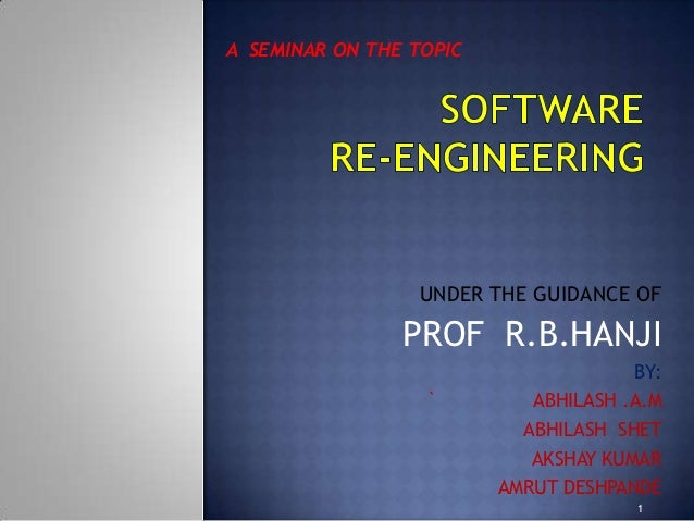 A SEMINAR ON THE TOPIC                  UNDER THE GUIDANCE OF                PROF R.B.HANJI                               ...