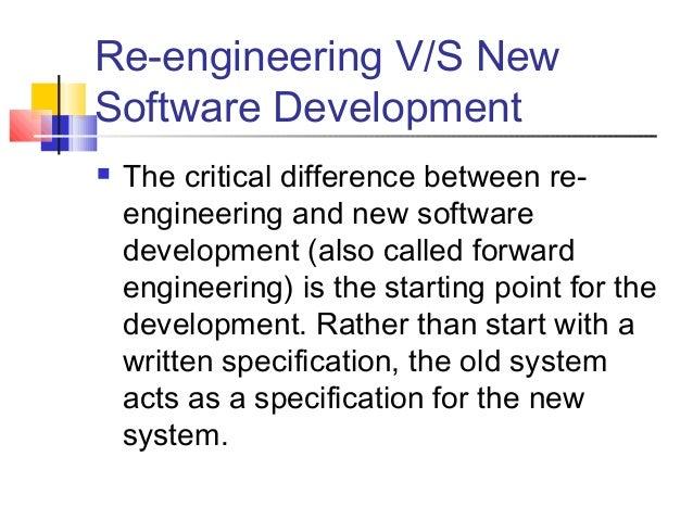 reengineering in software engineering pdf