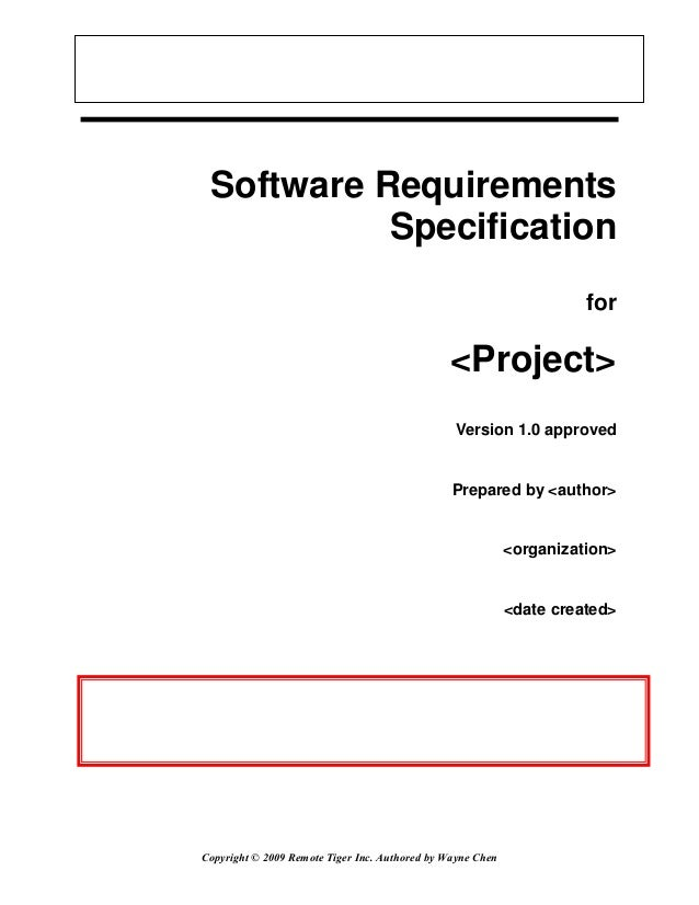 Software Requirements           Specification                                                                      for    ...