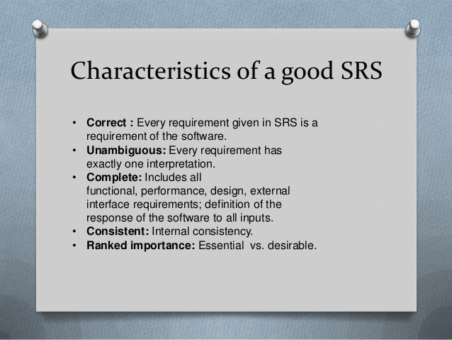 What Is Srs >> Software Requirements Specification