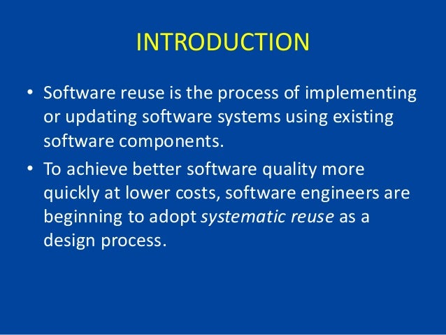 Software reuse ppt