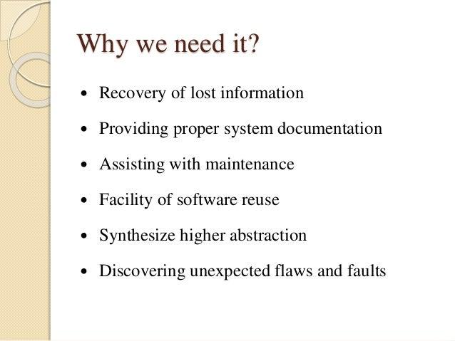 Software reverse engineering